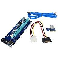PCIe Riser x1 to x16 card (MOLEX) ver.006 - přímá - Redukce