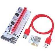 PCIe Riser x1 to x16 card (6-pin,MOLEX,SATA) ver.008 - přímá