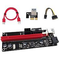 PCIe Riser x1 to x16 card (6-pin,MOLEX,SATA) ver.009 - přímá