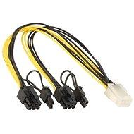 ANPIX kabel z PCIe 6pin(F) na 2x 6+2pin(M) - Redukce
