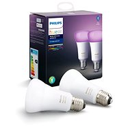 Philips Hue White and Color ambiance 9W E27 set 2ks - LED žárovka