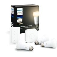 Philips Hue White 9W E27 starter kit - LED žárovka