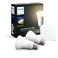 Philips Hue White 9W E27 malý starter kit  - LED žárovka