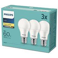 Philips LED 9-60W, E27 2700K, 3ks - LED žárovka