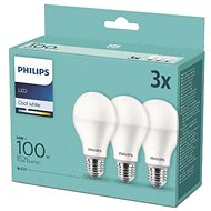 Philips LED 14-100W, E27 2700K, 3pcs - LED bulb