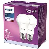Philips LED 10-75W, E27 4000K, 2ks - LED žárovka