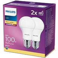 Philips LED 13-100W, E27 2700K, 2ks - LED žárovka