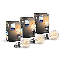 Philips Hue White Filament 7W E27 A60 3 ks - LED žárovka