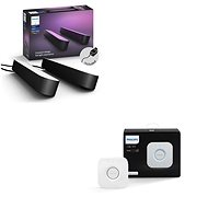 Philips Hue White and Color Ambiance Play Double pack 78202/30/P7 + Philips Hue Bridge 2.0, Apple Ho