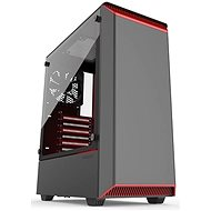 Phanteks Eclipse P300 Tempered Glass - Black/Red