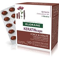 Klorane KERATINcaps - Strength & Vitality, Hair and Nails, Food Supplement 30 Capsules - Dietary Supplement