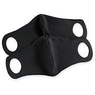 Komfortní rouška s drátkem černá 2 ks S
