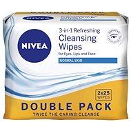 NIVEA Cleansing Wipes Normal skin Duopack 2 × 25 ks - Odličovací ubrousky