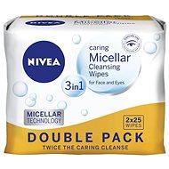 NIVEA Cleansing Wipes Micellar Duopack 2 × 25 ks - Odličovací ubrousky