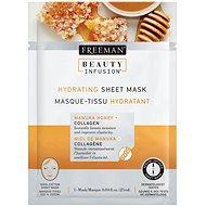 FREEMAN Beauty Infusion Hydratační látková maska manuka med + kolagen 25 ml - Pleťová maska