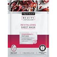 FREEMAN Beauty Infusion Revitalizační látková maska granátové jablko + peptidy 25 ml - Pleťová maska