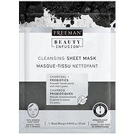 FREEMAN Beauty Infusion Čisticí látková maska dřevěné uhlí + probiotika 25 ml - Pleťová maska
