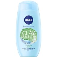 NIVEA Clay Fresh Ginger & Basil Shower Gel 250 ml - Sprchový gel