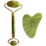 PALSAR7 Masážní váleček a destička Guasha - zelený xiuyan jadeit