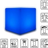 Colour changing LED cube stool 30cm - Taburet