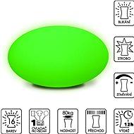 Colour changing Large Pebble (New Cushion) - Dekorativní osvětlení