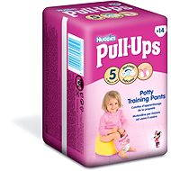 HUGGIES Pull Ups vel. 5 Medium - Girls (14 ks) - Plenkové kalhotky