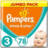 PAMPERS Sleep&Play Midi vel. 3 (78 ks) - Jumbo Pack - Dětské pleny