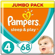 PAMPERS Sleep&Play Maxi vel. 4 (68 ks) - Jumbo Pack
