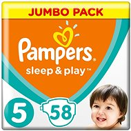 PAMPERS Sleep&Play Junior vel. 5 (58 ks) - Jumbo Pack