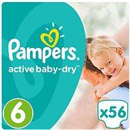 PAMPERS Active Baby-Dry Extra Large vel. 6 (56 ks) - Dětské pleny