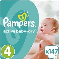 PAMPERS Active Baby-Dry vel. 4 Maxi Mega Box Plus (147 ks) - Dětské pleny