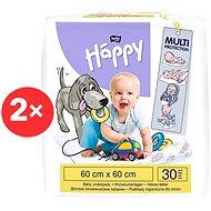 BELLA Baby Happy Dětské podložky 60 × 60 cm, 2× 30 ks - Přebalovací podložka