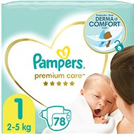 PAMPERS Premium Care vel. 1 Newborn (2-5 kg) 88 ks - Dětské pleny