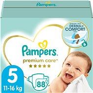 PAMPERS Premium Care vel. 5 Junior (11-18 kg) 88 ks - měsíční zásoba - Dětské pleny