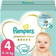 Pampers Premium Care MB vel. 4 MAXI (104 ks) - měsíční zásoba - Dětské pleny