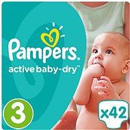 PAMPERS Active Baby-Dry vel. 3 Midi (42 ks) - Dětské pleny