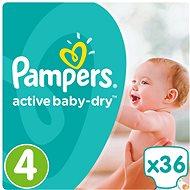 PAMPERS Active Baby-Dry vel. 4 Maxi (36 ks) - Dětské pleny