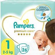 PAMPERS Premium Care Newborn vel. 1 (26 ks) - Dětské pleny