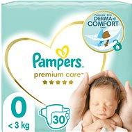 PAMPERS Premium Care vel. 0 Newborn (< 2,5 kg) 30 ks - Dětské pleny