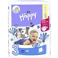 BELLA Baby Happy Midi vel. 3 (72 ks) - Dětské pleny