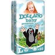 DOLLANO Baby Premium L 56 ks - Dětské pleny