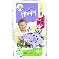 BELLA Baby Happy vel. 4 Maxi (66 ks) - Dětské pleny
