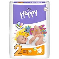 BELLA Baby Happy vel. 2 Mini (38 ks) - Dětské pleny