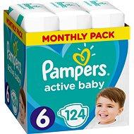 PAMPERS Active Baby vel. 6 Extra Large (124 ks) - měsíční balení - Dětské pleny