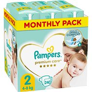 PAMPERS Premium Care Size 2 Mini (240pcs) - monthly pack - Baby Nappies