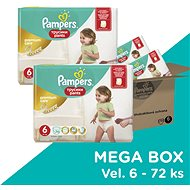 PAMPERS Pants Premium Care Extra Large vel. 6 Megabox (72 ks) - Plenkové kalhotky