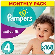 PAMPERS Active Fit vel. 4 (168 ks) - měsíční balení - Dětské pleny
