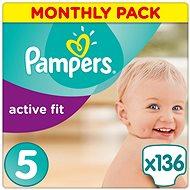 PAMPERS Active Fit vel. 5 (136 ks) - měsíční balení - Dětské pleny