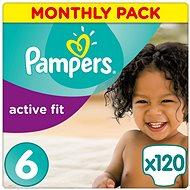PAMPERS Active Fit vel. 6 (120 ks) - měsíční balení - Dětské pleny