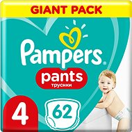 PAMPERS Pants Maxi vel. 4 (62 ks) - Plenkové kalhotky